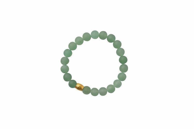 Sanai Beaded Aventurine Gemstone Bracelet - Green - Alora Boutique - Jewelry with meaning that gives back fashion for good
