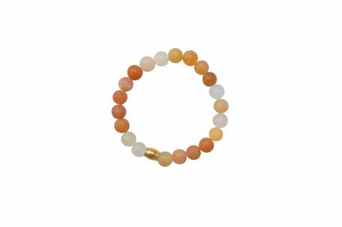 Sanai Beaded Aventurine Gemstone Bracelet - Orange - Alora Boutique - Jewelry with meaning that gives back fashion for good