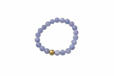 Sanai Beaded Aventurine Gemstone Bracelet - Blue - Alora Boutique - Jewelry with meaning that gives back fashion for good