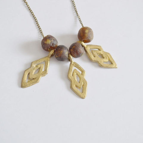 """Epa"" Statement ""Justice and Equality"" Recycled Brass Necklace 