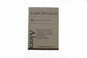 Empower Bangle | Square | Sterling Silver or Brass - Alora Boutique - Jewelry with meaning that gives back fashion for good