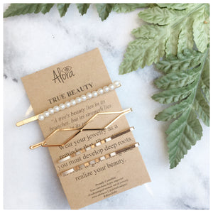 Vivi - True Beauty Hair Pins Sustainable gifts Alora Boutique Set