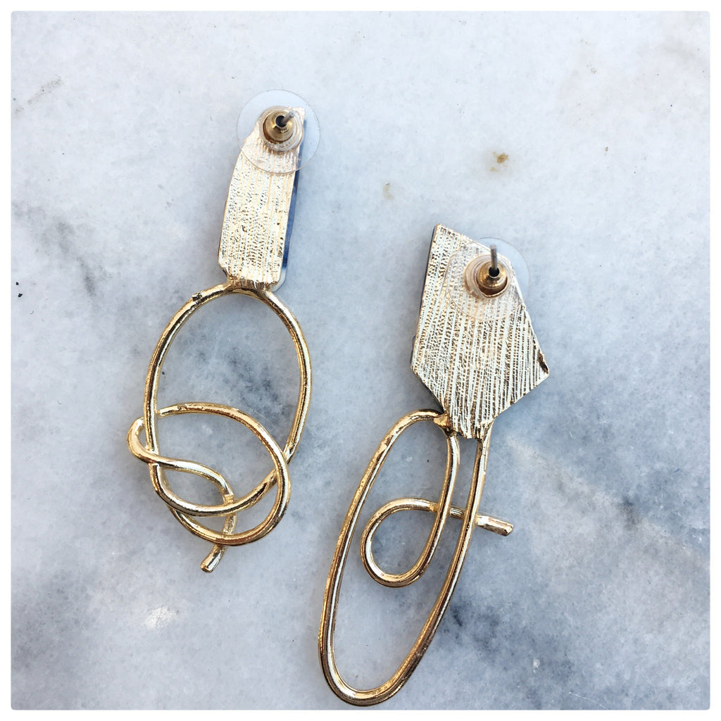 Wendy -  True Beauty Asymmetrical Earrings