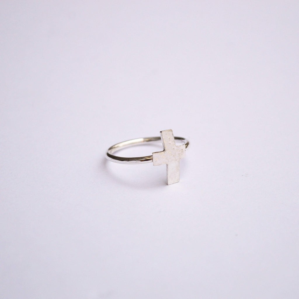 The Journey | Cross Ring | Sterling Silver - Alora Boutique