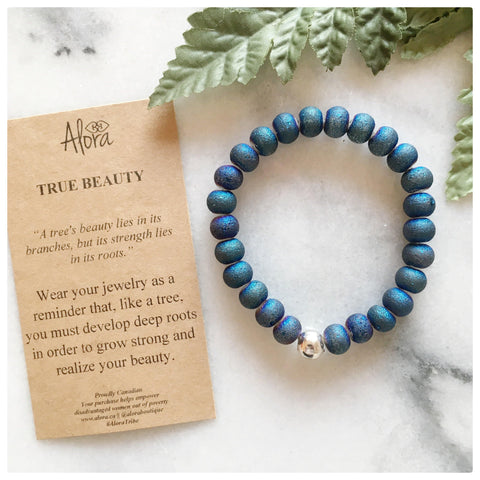 Michelle -  True Beauty Teal Gemstone Bracelets