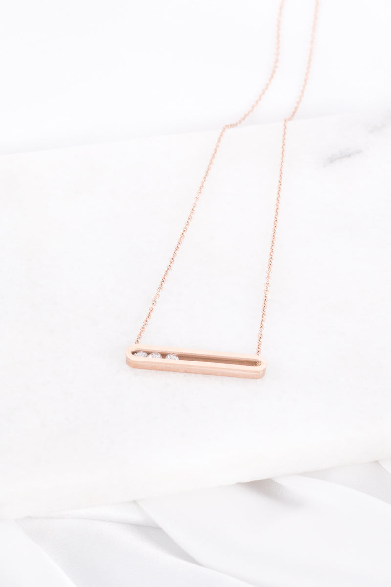 Colar Triple Shine Rose Gold