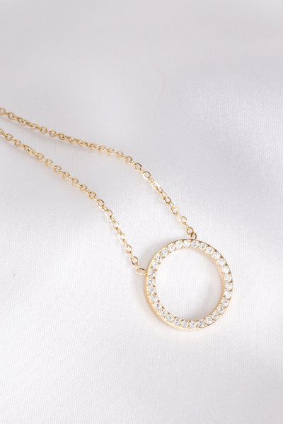 Glam Circle Gold Necklace