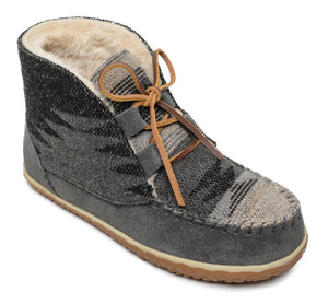 Torrey Lace Up Bootie - Grey