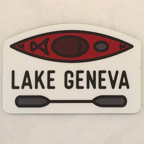 Kayak and Paddle Sticker