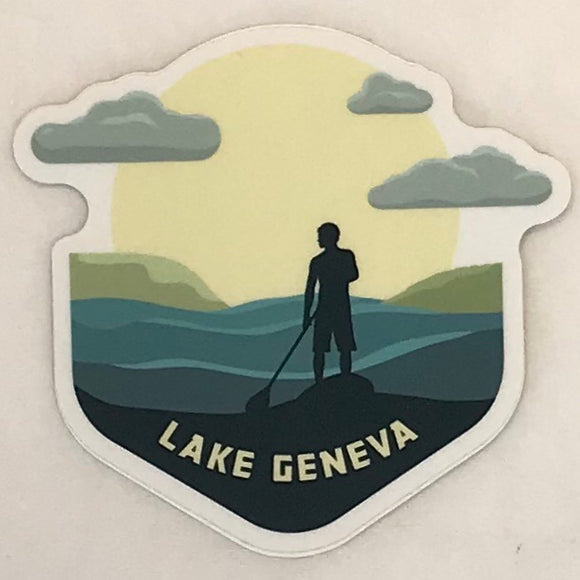 Paddle Boarding Sticker