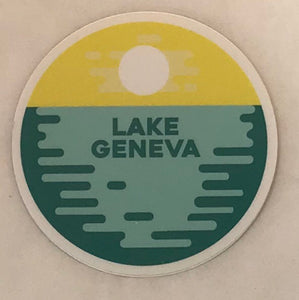 Lake Sunset Sticker