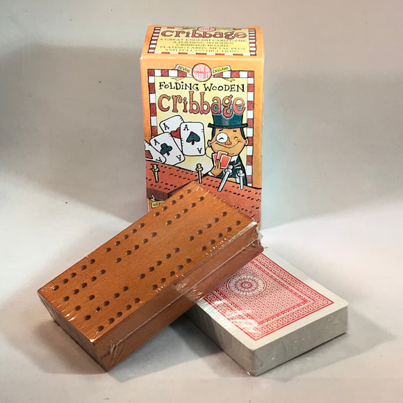 Folding Wooden Cribbage