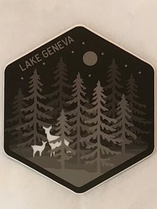 Deer in Forest Sticker
