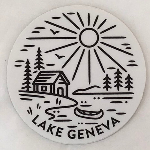Canoe Cabin Lake Sticker