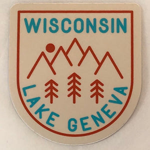 Crest with Trees Sticker