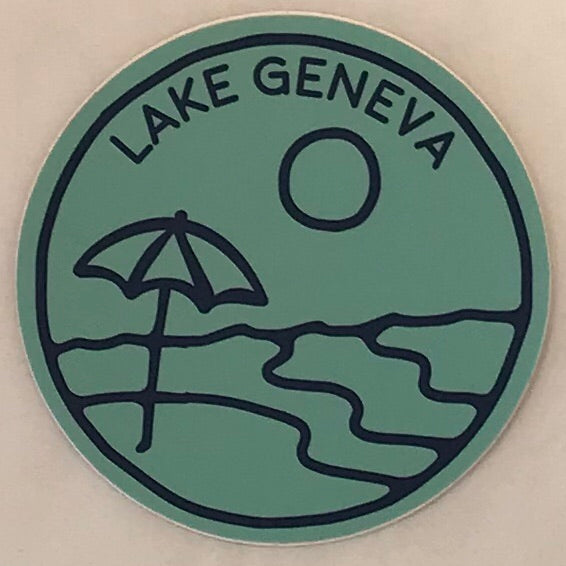 Beach Umbrella Sticker