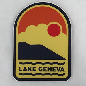 Golden Hour Beach Sticker