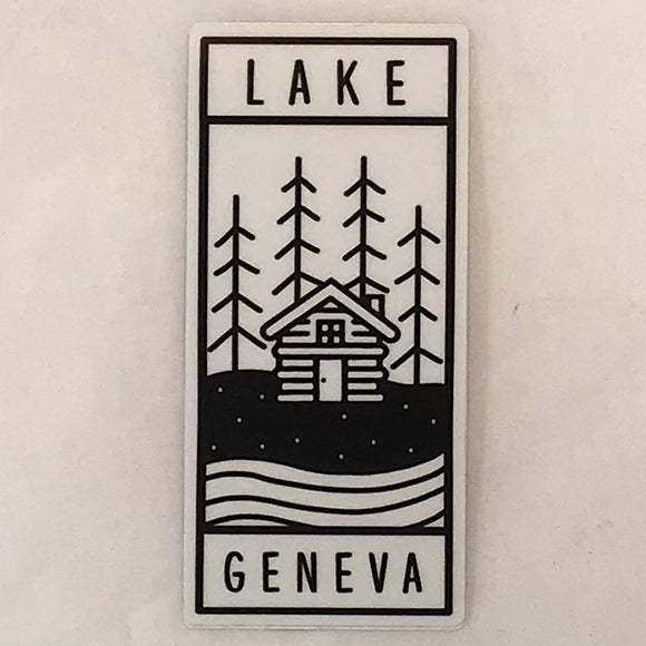 Cabin Trees Sticker