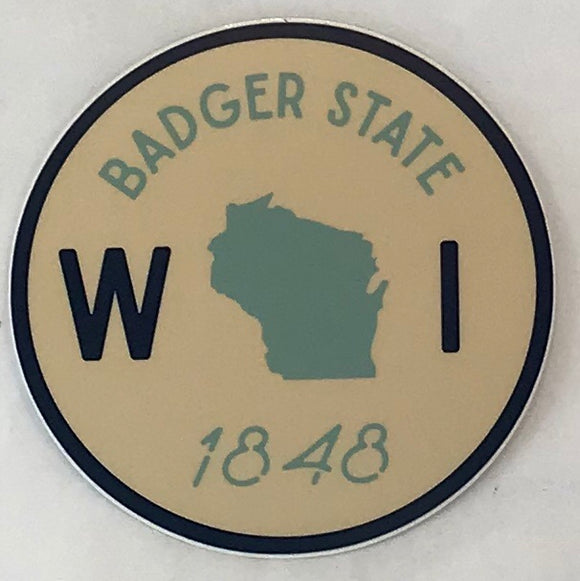 Badger State 1848 Sticker