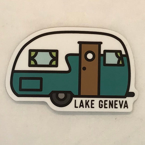 Retro Camper Sticker