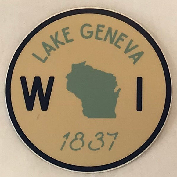 Round Wisconsin 1837 Sticker