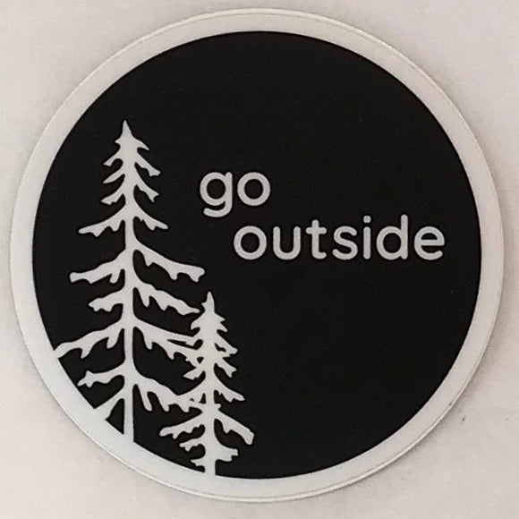 Go Outside Round Sticker