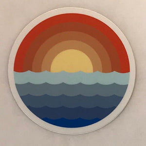 Sunrise Waves Sticker