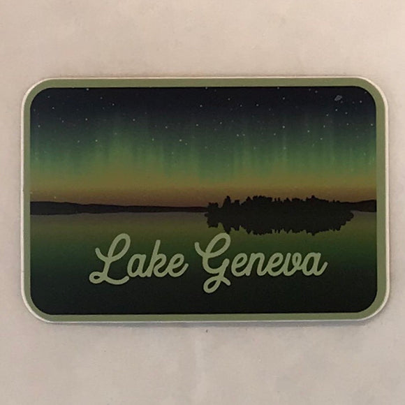 Northern Lights Lake Sticker