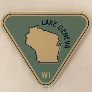 Triangle Wisconsin Sticker