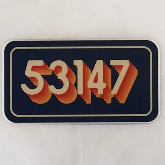Zip Code 53147 Sticker
