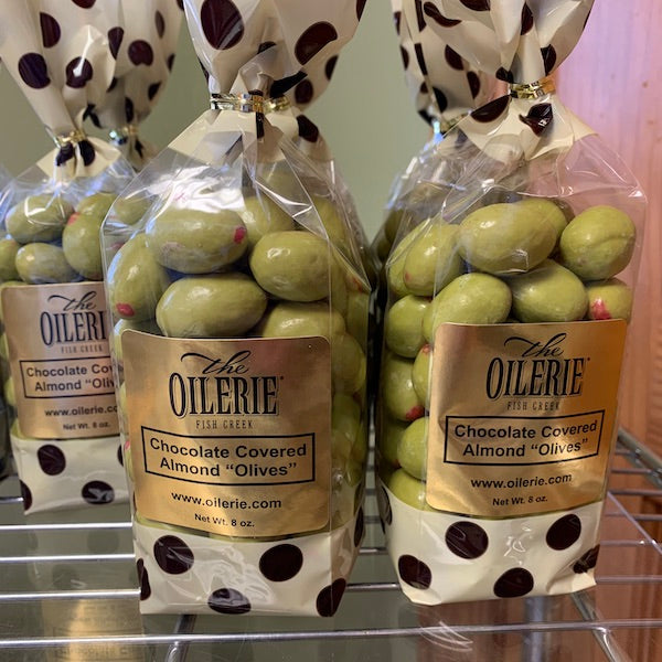 "White Chocolate Covered Almond ""Olives""!"
