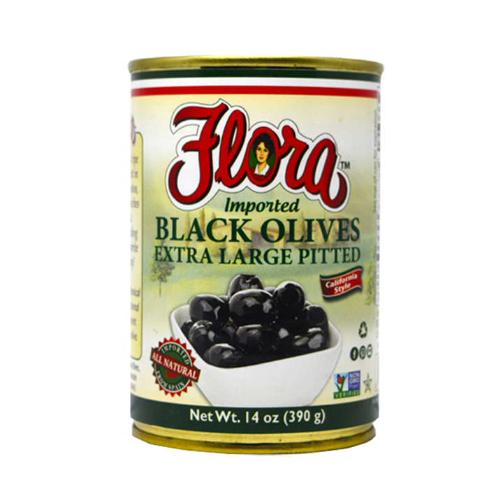 OLIVES BLACK PITTED 14 OZ