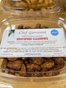 Chef Giovanni --Brownie Cashews