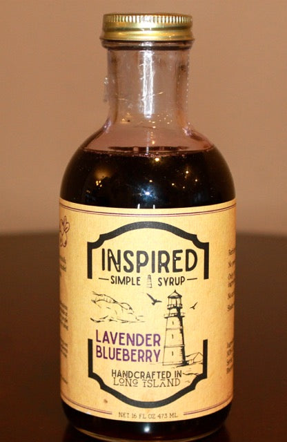 Inspired Simple Syrup --Lavender Blueberry