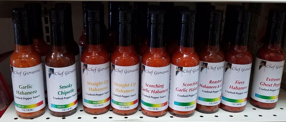 Chef Giovanni Hot Sauces 5 oz.