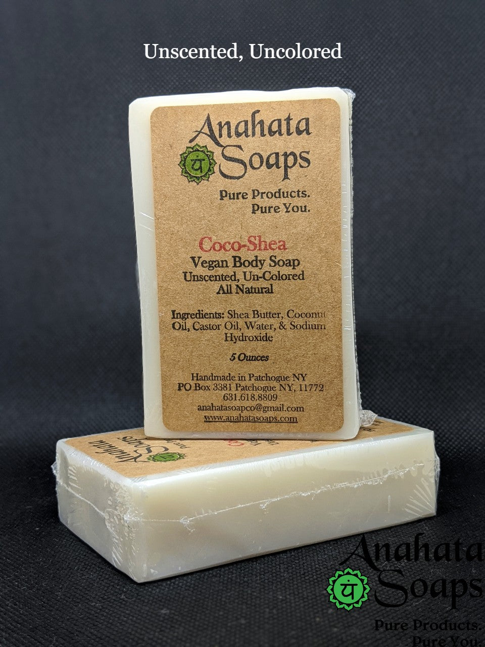 Anahata Soaps--Unscented, Un-Colored