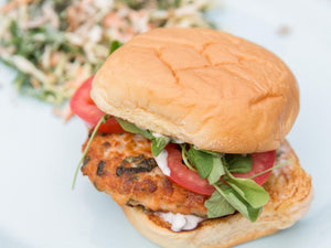 Alice's Fish Market--Salmon burger