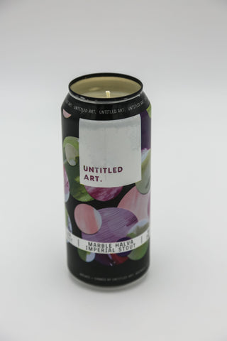Untitled Art Marble Halva Imperial Stout Tall Boy Candle