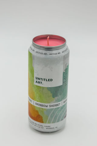 Untitled Art Rainbow Sherbert Tall Boy Candle