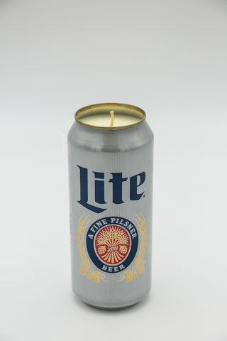 Miller Lite Tall Boy Candle