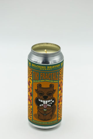 Belching Beaver Brewery Tiki Fractals Tall Boy Candle