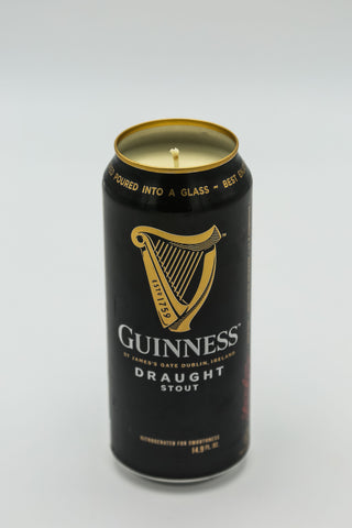Guiness Draught (Black) Tall Boy Candle