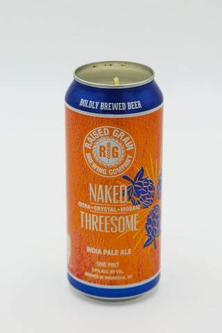 Raised Grain: Naked Threesome Tall Boy Candle
