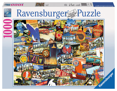 Ravensburger 1000pc Jigsaw - Road Trip USA