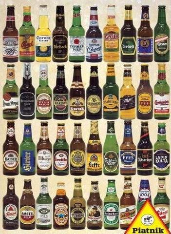 Piatnik 1000 Piece Puzzle - Beers of the World