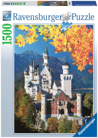 Ravensburger 1500 Piece Jigsaw - Neuschwanstein in Autumn