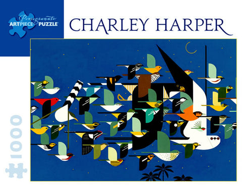 Charley Harper - Mystery of the Missing Migrants 1000 Piece Jigsaw Puzzle