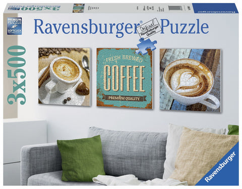 Ravensburger 3 x 500 Piece Jigsaw - Coffee Time