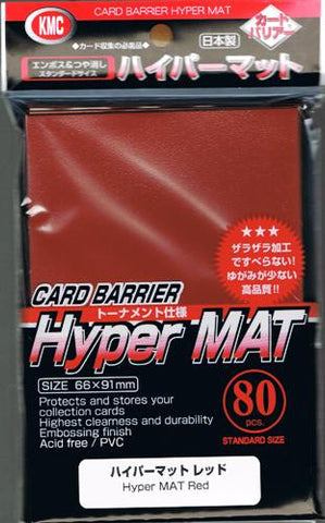 KMC Hyper Mat Sleeves - Red