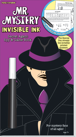 The Return of Mr. Mystery Invisible Ink Game Book